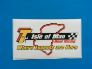 ISLE OF MAN TT sticker/decal x2